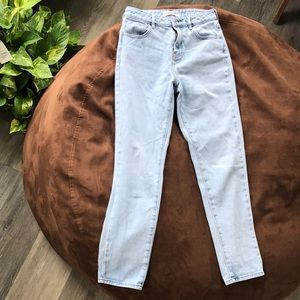 Pacsun mom jeans light wash